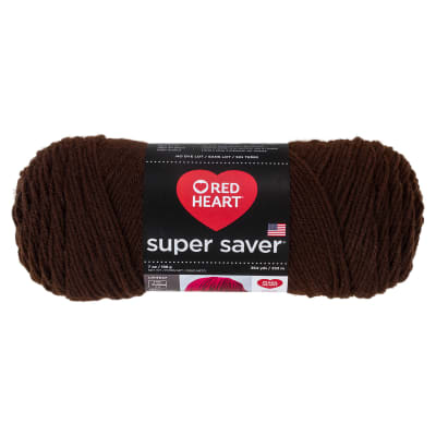 Red Heart Super Saver Yarn 365 Coffee