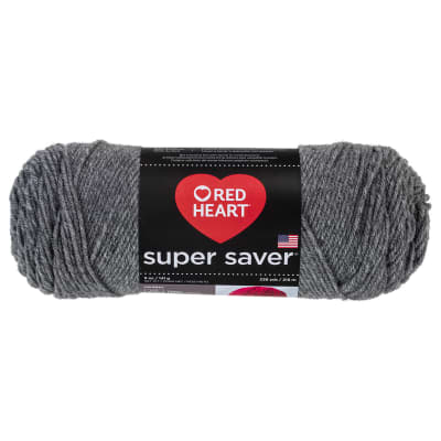 Red Heart Super Saver Yarn 400 Grey Heather