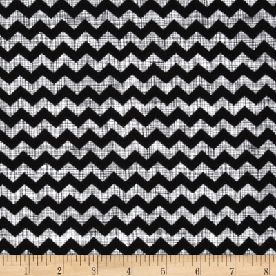 Timeless Treasures Ziggy Small Chevron Piano Black/White