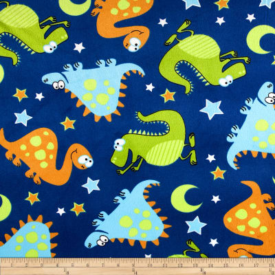 Minky Dinosaurs All Over Blue