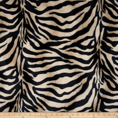 Velboa Faux Fur Zebra Black/Brown