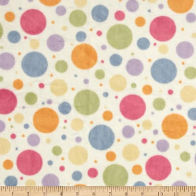 Minky Tossed Dots Multi