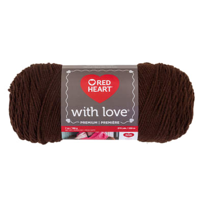 Red Heart Yarn With Love 1321 Chocolate