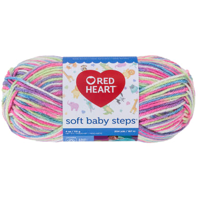 Red Heart Yarn Soft Baby Steps 9937 Giggle Print