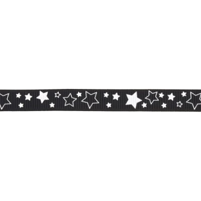 "Riley Blake 3/8"" Grosgrain Ribbon Stars Black"