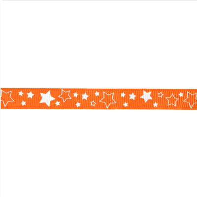 "Riley Blake 3/8"" Grosgrain Ribbon Stars Orange"