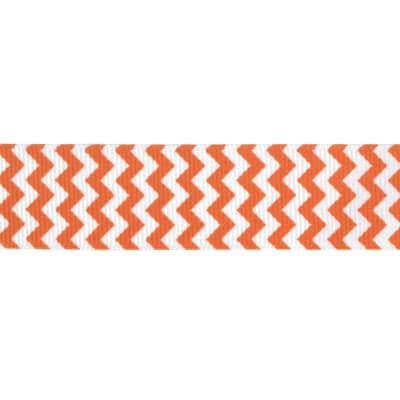 "Riley Blake 7/8"" Grosgrain Ribbon Chevron Orange"