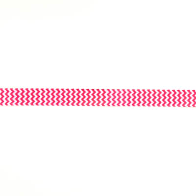 "Riley Blake 7/8"" Grosgrain Ribbon Chevron Hot Pink"