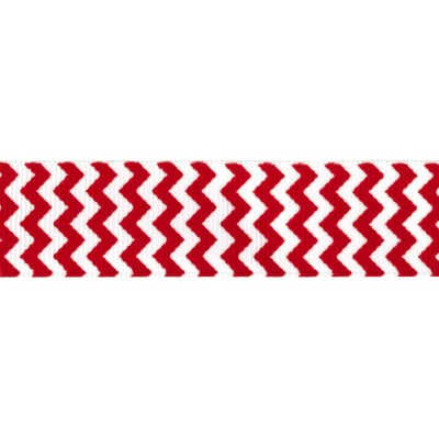 "Riley Blake 7/8"" Grosgrain Ribbon Chevron Red"