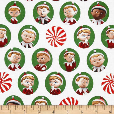 Elf on the Shelf Character Heads White Green
