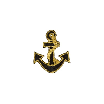 Anchor with Tiny Border Applique Black