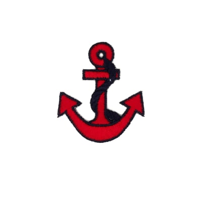 Anchor with Border Applique Red