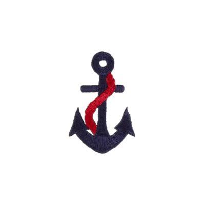 Anchor with Rope Applique Navy