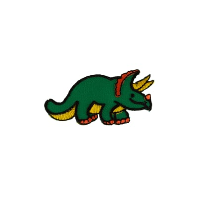 Dino with Horns Applique Green