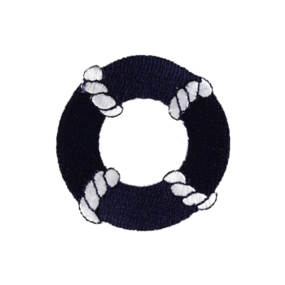 Life Preserver Applique Navy