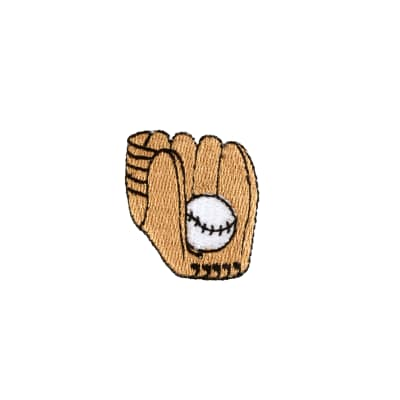 Baseball Glove & Ball Applique Tan