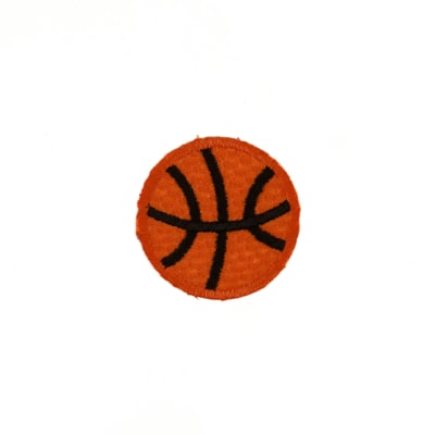 Basketball Small Applique Orange