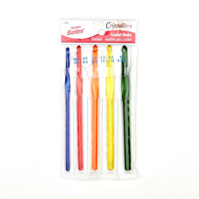 Bates Crystalites Crochet Hook Multi Pack (G,H,I,J,K)
