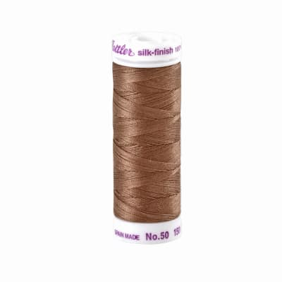 Mettler Cotton All Purpose Thread Brown Mushroom