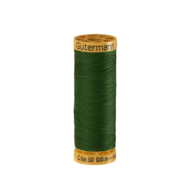 Gutermann Natural Cotton Thread 100m/109yds Emerald