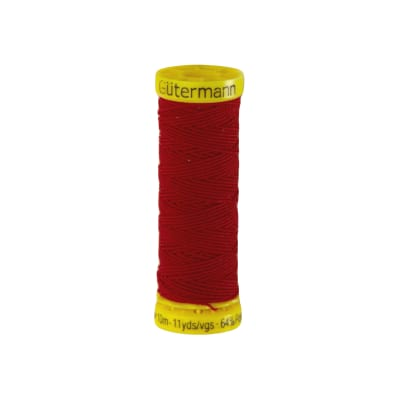 Gutermann Polyester/Polyurethane Elastic Thread 10m/11yds Red