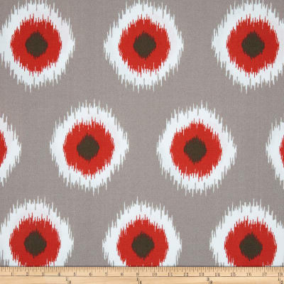 Premier Prints Indoor/Outdoor Ikat Domino Salmon