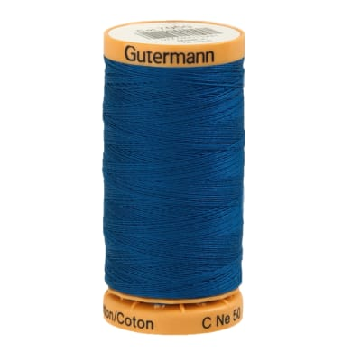 Gutermann Natural Cotton Thread 250m/273yds Blue