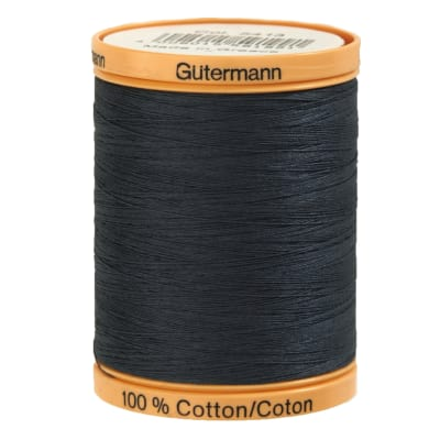 Gutermann Natural Cotton Thread 800m/875yds Evening Blue
