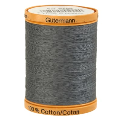 Gutermann Natural Cotton Thread 800m/875yds Stormy Grey