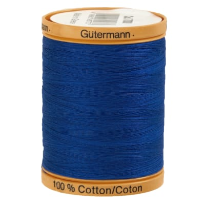 Gutermann Natural Cotton Thread 800m/875yds Royal Blue