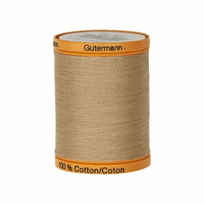 Gutermann Natural Cotton Thread 800m/875yds Burlap Beige