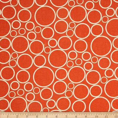 """108""""  Wide Spot On Wide Quilt Backing Circles Tangerine"""