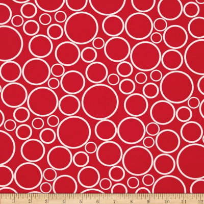"108"" Wide Geo Circles Wide Red"