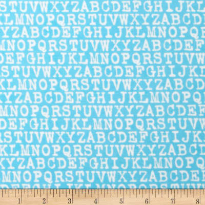 Cozy Cotton Flannel Alphabet Aqua