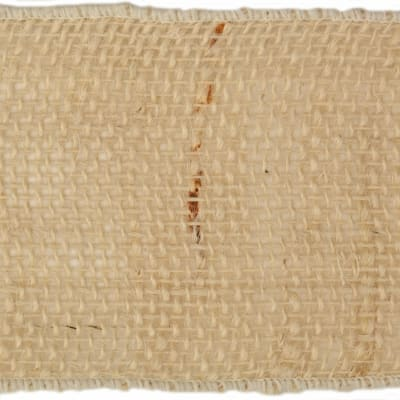 "4"" Burlap Wired Ribbon Light Natural"