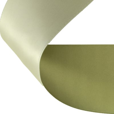 "2"" Satin Reversible Ribbon Olive/Sage"
