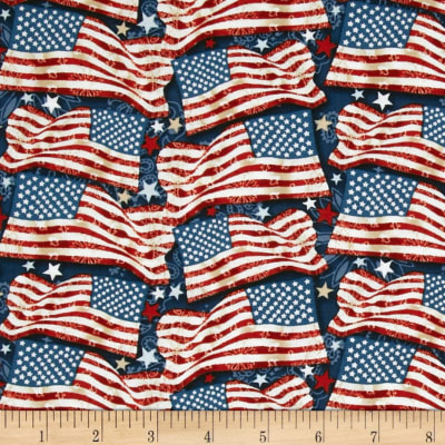 Star Spangled Bandana Freedom Flags Navy/Multi