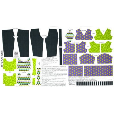 Lets Play Dolls Everyday Play Outfit Panel Purple