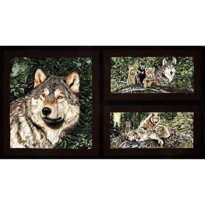 Wolf Song Panel Brown