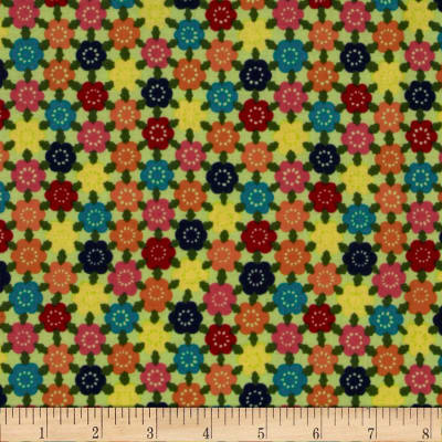 Alexander Henry Indochine Chiyohana Blossoms Chartreuse