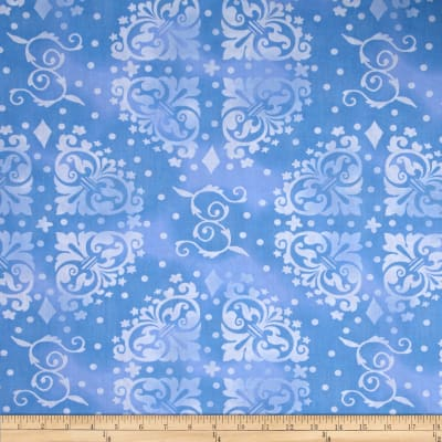"108"" Wide Quilt Backing Medallion Tonal Blue"