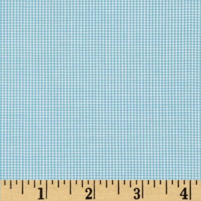"""Imperial 1/32"""" Micro Check Turquoise"""