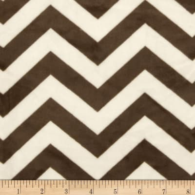"Minky 3/4"" Chevron Cream/Brown"