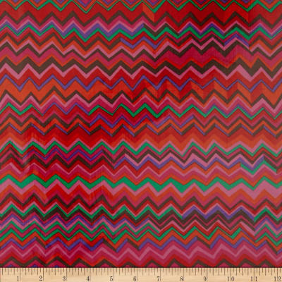 Brandon Mably Laminated Cotton Zig Zag Warm Pink