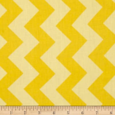 "Riley Blake 108"" Wide Medium Chevron Tone on Tone Yellow"