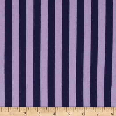 "Riley Blake 1/2"" Stripe Navy/Purple"