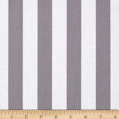 "Riley Blake 1"" Stripe Gray"