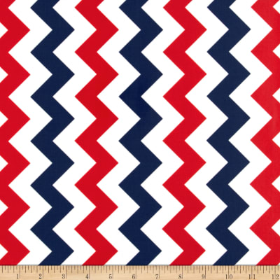 Riley Blake Laminate Medium Chevron Patriotic