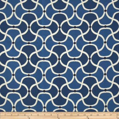 Bella-Dura Eco-Friendly Indoor/Outdoor Scallop Jacquard Blue