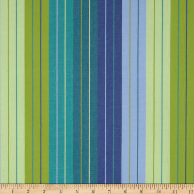 Sunbrella Outdoor Canvas Stripe Seville Seaside